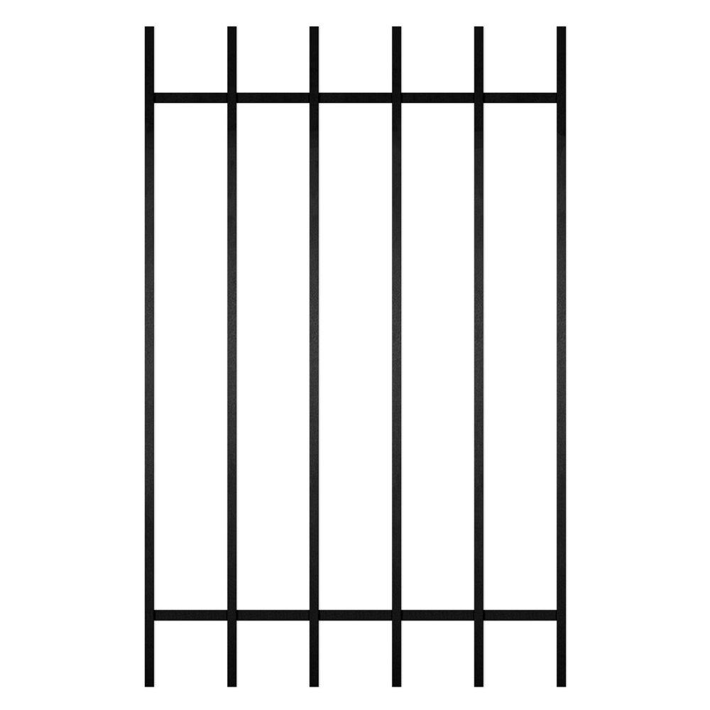 Unique Home Designs Guardian 30 in. x 48 in. Black 6-Bar Window Guard-DISCONTINUED