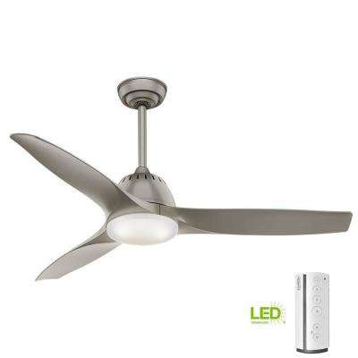 Wisp 52 in. LED Indoor Painted Pewter Ceiling Fan with Remote Control