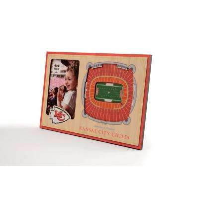 NFL Kansas City Chiefs Team Colored 3D StadiumView with 4 in. x 6 in. Picture Frame