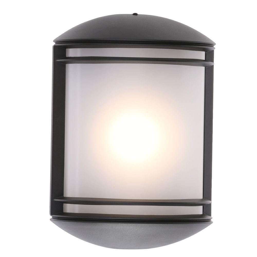 Lithonia Lighting Olcs Bronze Outdoor Integrated Led Wall Mount Sconce