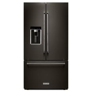 kitchenaid refrigerator black stainless. kitchenaid 36 in. w 23.8 cu. ft. french door refrigerator in black stainless, counter depth-krfc704fbs - the home depot kitchenaid stainless
