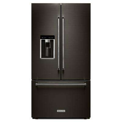 23.8 cu. ft. French Door Refrigerator in Black Stainless, Counter Depth