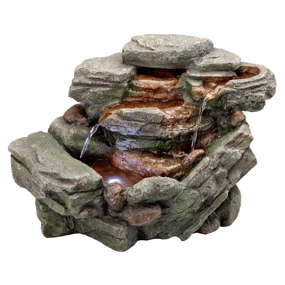 Waterfall Creek Cascading Stone Bonded Resin Tabletop Fountain
