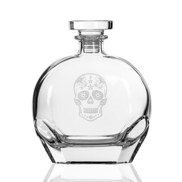 Badash Crystal 34 Oz 10 5 In High Andre Square European Mouth Blown Scotch Or Whiskey Lead Free Crystal Decanter K2224 The Home Depot