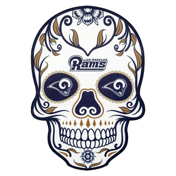 Applied Icon Nfl Los Angeles Rams Outdoor Skull Graphic