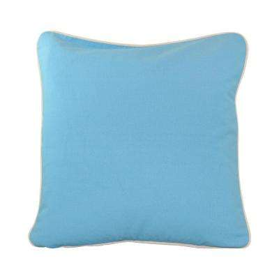 20 in. x 20 in. Baby Blue  Standard Pillow with Green Eco Friendly Insert