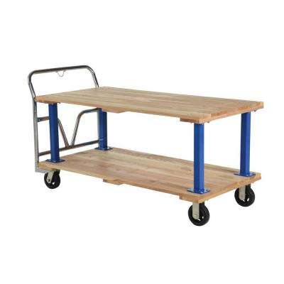 1,600 lb. Capacity 30 in. x 60 in. Double Deck Hardwood Platform Cart