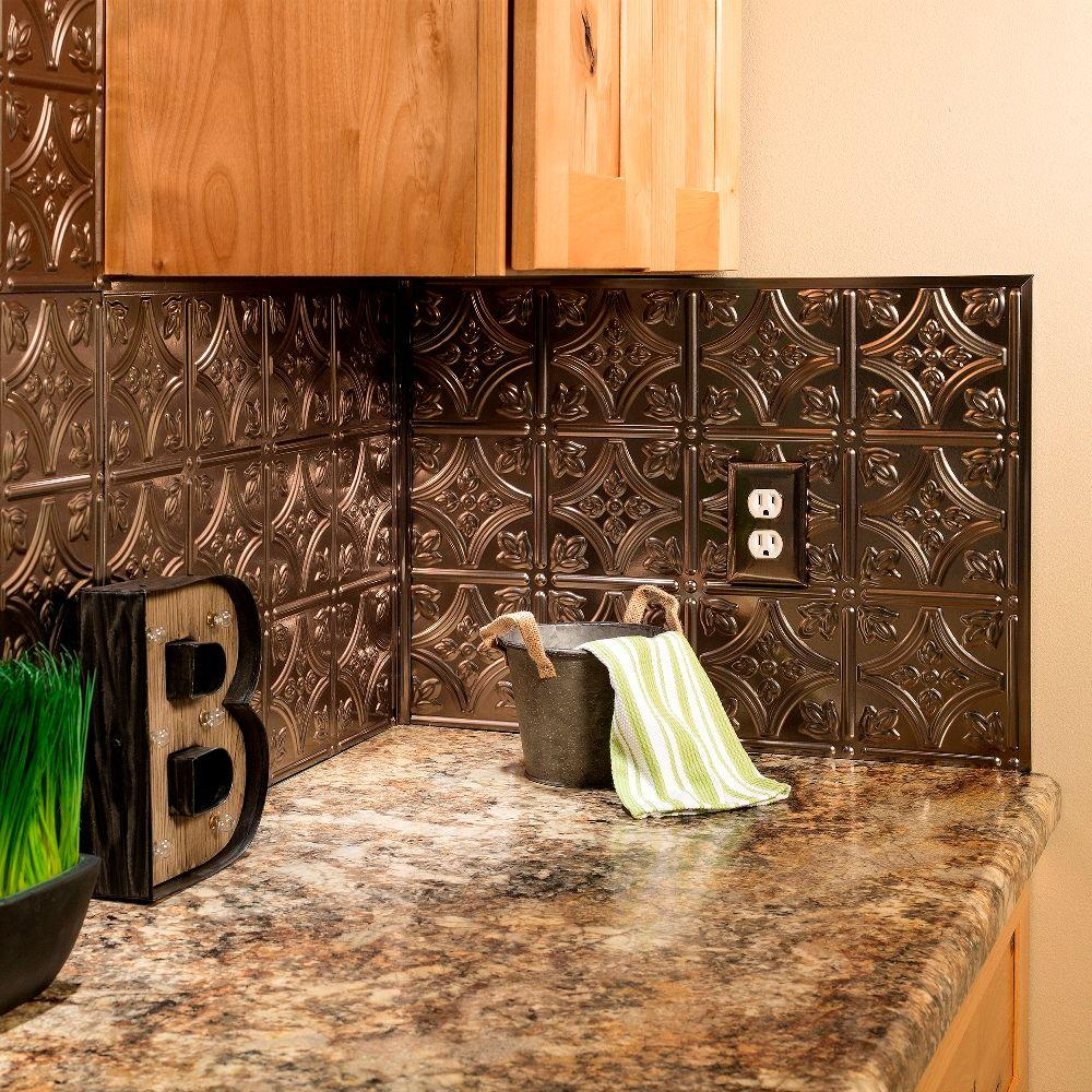 Brushed Nickel Tile Backsplashes Tile The Home Depot