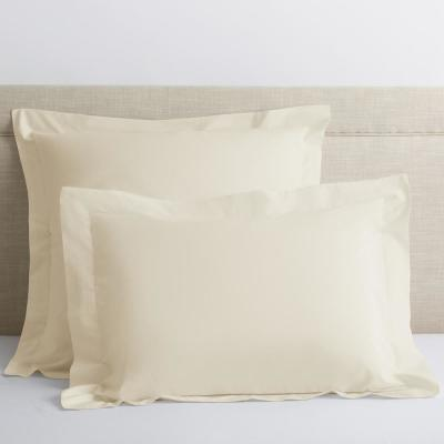 Classic Ivory Solid 210 Thread Count Cotton Percale King Sham