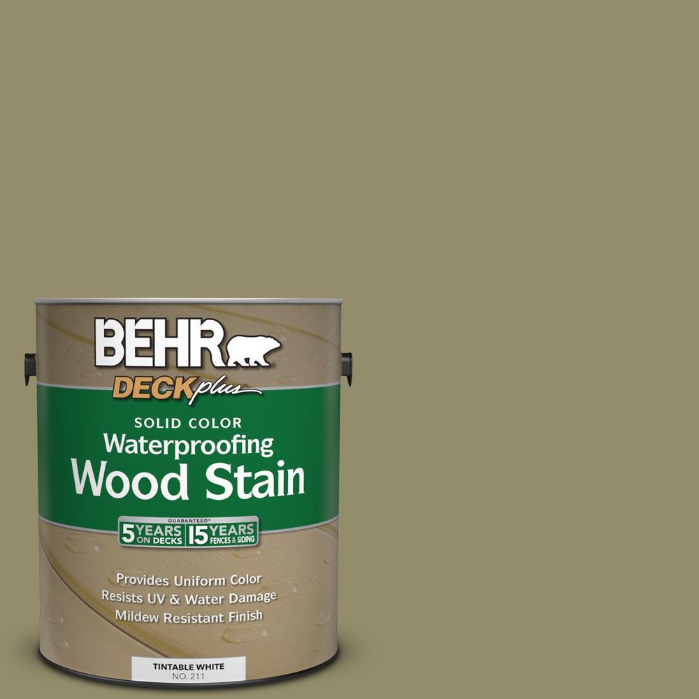 BEHR DECKplus 1 gal. #SC-151 Sage Solid Color Waterproofing Wood ...