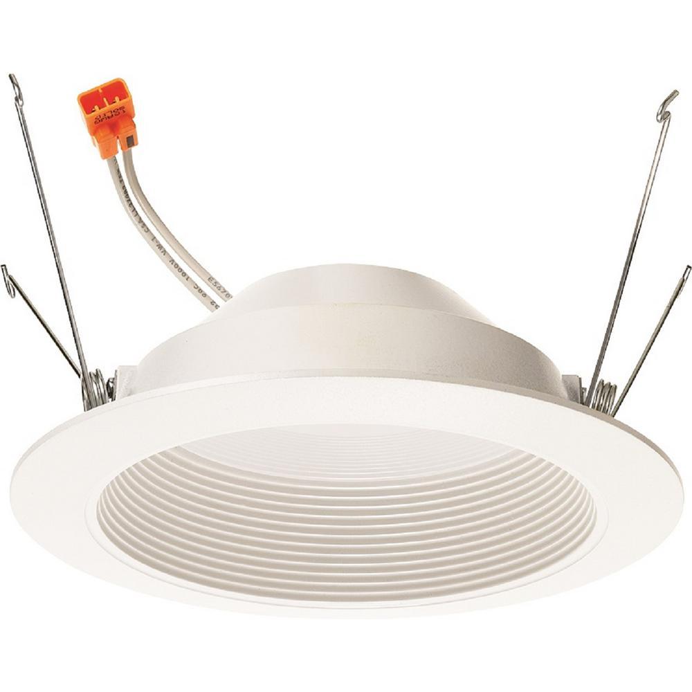 10-Watt 5 in. 700-Lumens 2700K 90CRI White Integrated LED Recessed Trim