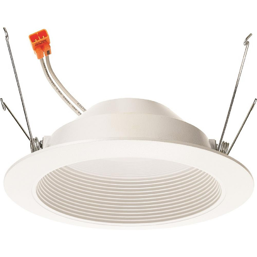 Juno Lighting 10 Watt 5 In 700 Lumens 3000k 90cri White Integrated Led Recessed Trim