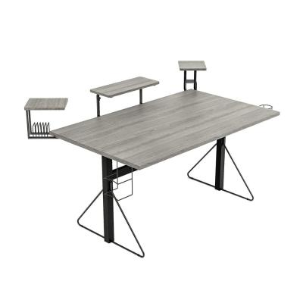 Carnegie Black/Gray Computer Gaming Desk XL