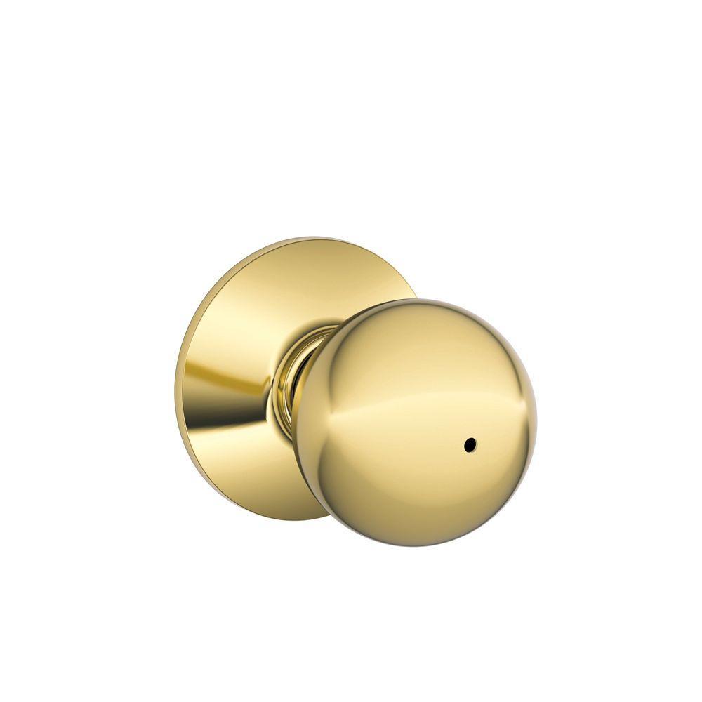 Orbit Bright Brass Commercial Privacy Bed/Bath Door Knob