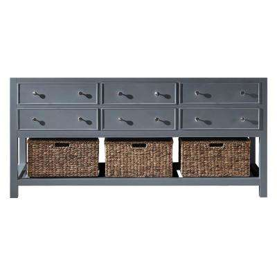 Elodie 71.2 in. W x 21.7 in. D x 33.5 in. H Bath Vanity Cabinet Only in Cashmere Grey