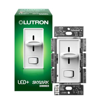 Skylark LED+ Dimmer Switch for Dimmable LED, Halogen and Incandescent Bulbs, Single-Pole or 3-Way, White