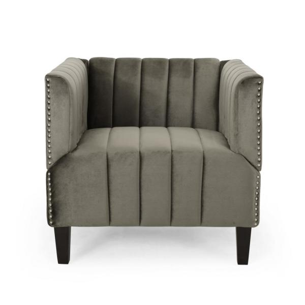 Weymouth Grey Velvet Upholstered Club Chair