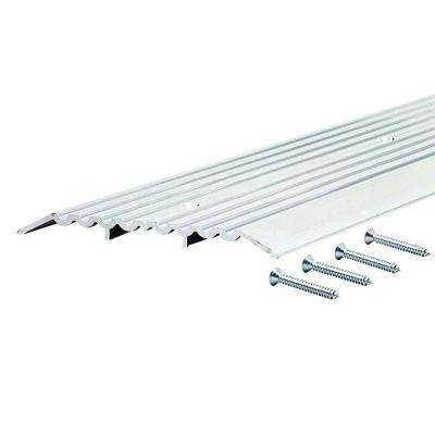 Fluted Top Fixed 6 in. x 60 in. Aluminum Heavy Duty Commercial Threshold