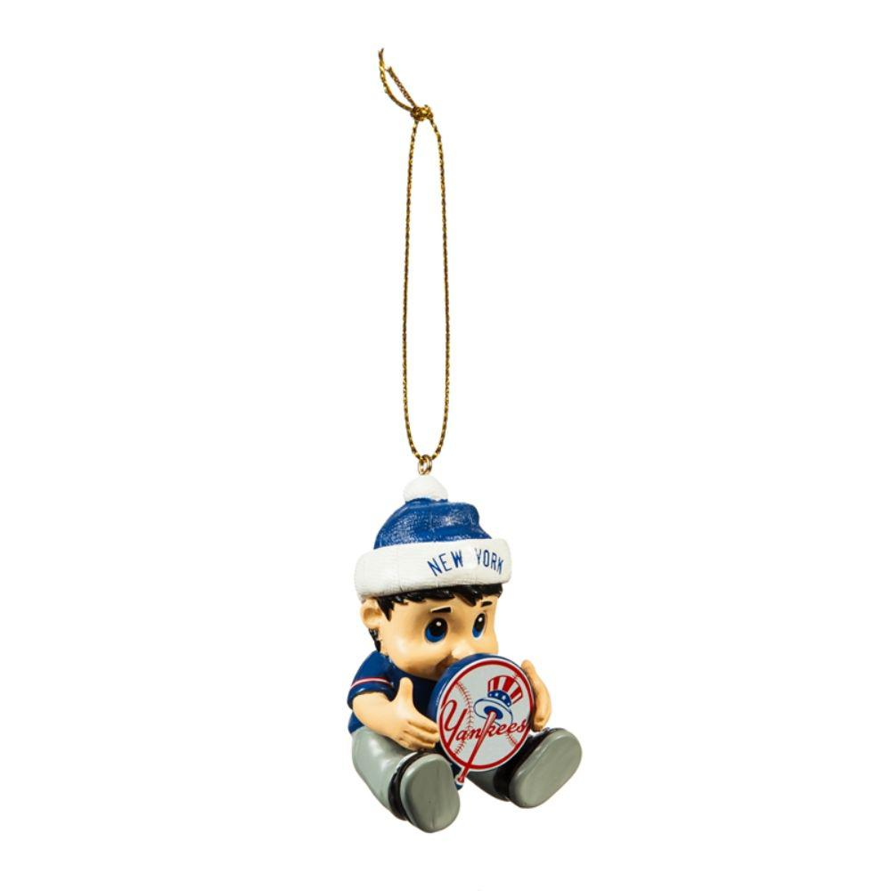 Team Sports America New York Yankees 2 in. MLB New Lil Fan Christmas Ornament