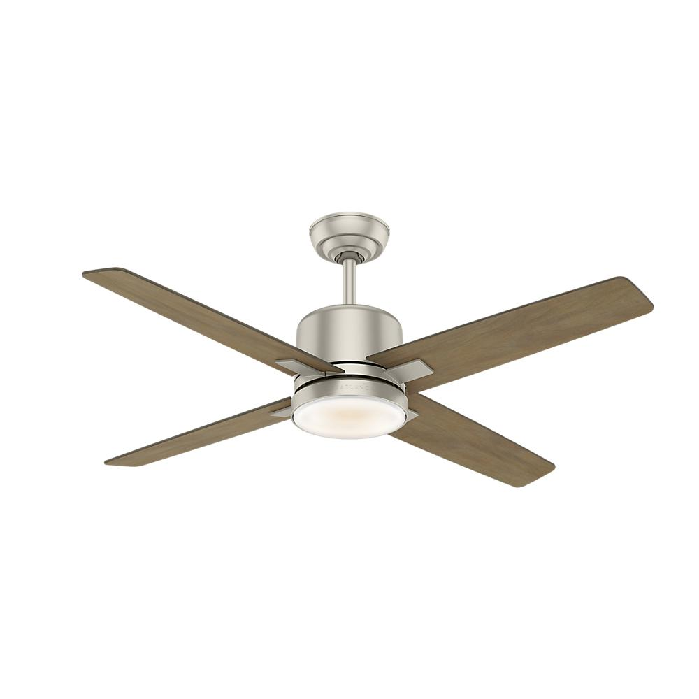 Axial 52 in. LED Indoor Matte Nickel Ceiling Fan