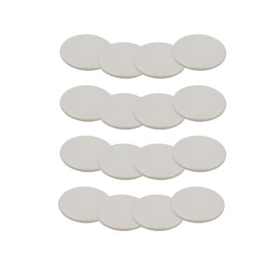 3-1/2 in. Beige Reusable Round Furniture Sliders for Carpet (16-Pack)
