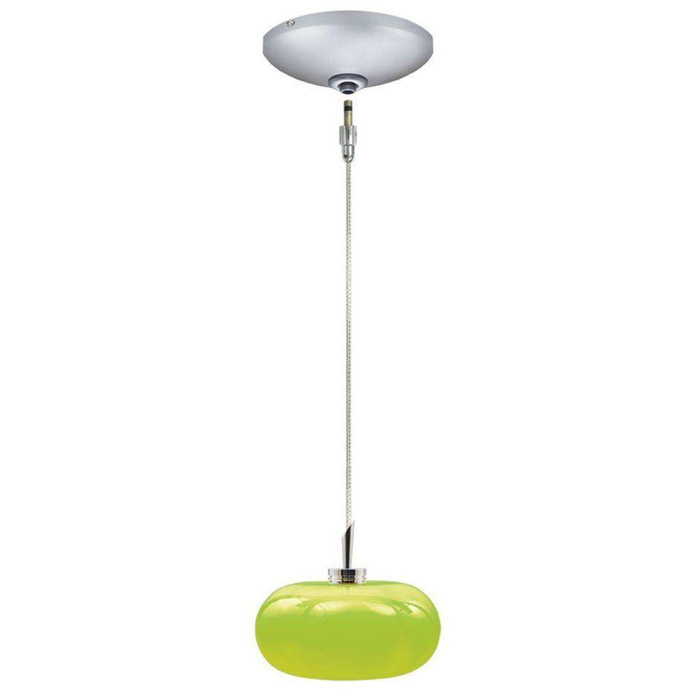 JESCO Lighting Low Voltage Quick Adapt 5-3/8 in. x 100-1/2 in. Chartreuse Pendant and Canopy Kit