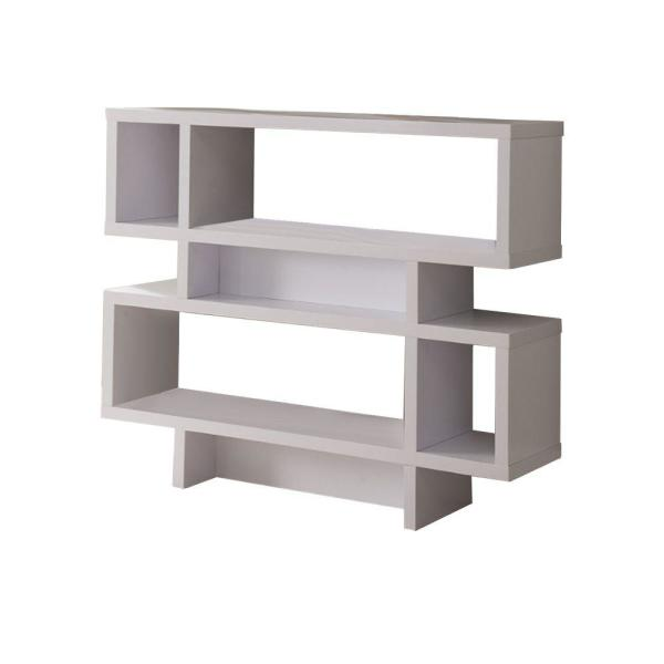 Alluring White 2-Tier Wooden Display Cabinet