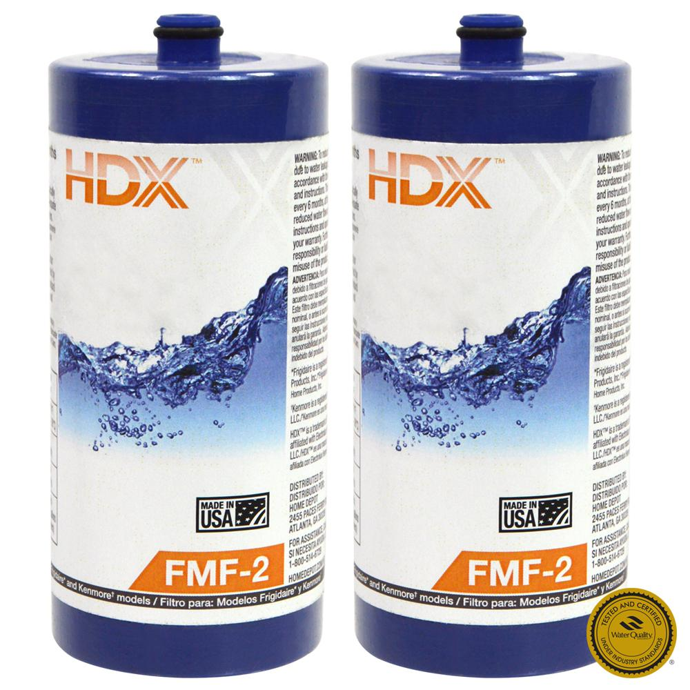 HDX FMF-2 Refrigerator Replacement Filter Fits Frigidaire WF1CB (Value Pack)