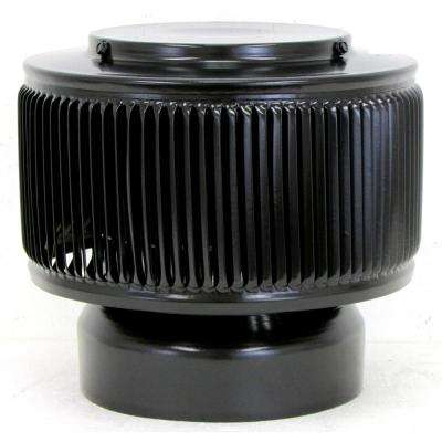 6 in. Dia Aura PVC Vent Cap Exhaust with Adapter for Schedule 40 or Schedule 80 PVC Pipe in Black