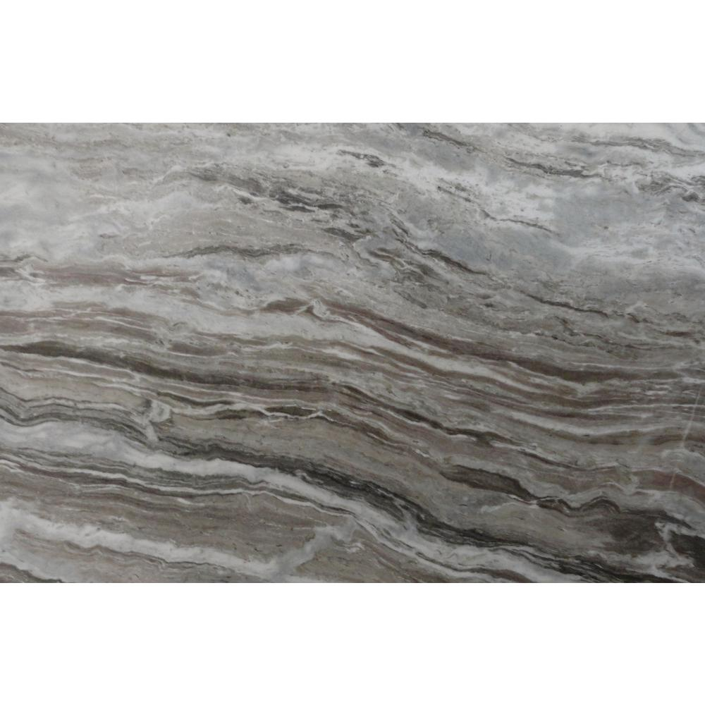 Incroyable Marble Countertop Sample In Fantasy Brown Marble Satin