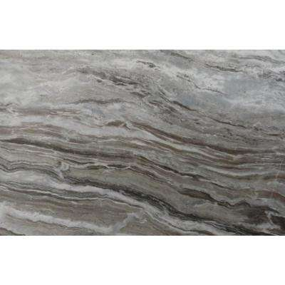 3 in. x 3 in. Marble Countertop Sample in Fantasy Brown Marble Satin