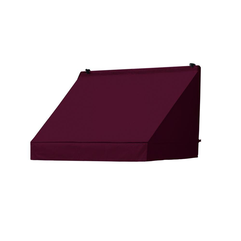 Awnings in a Box 6 ft. Classic Awning (25 in. Projection) in Burgundy