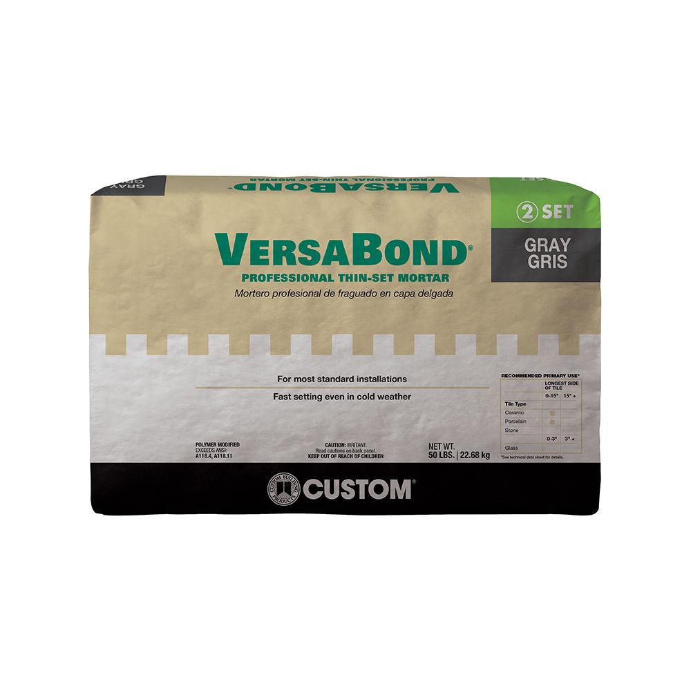 Custom Building Products VersaBond Gray 50 lbs. Fortified Thin-Set Mortar