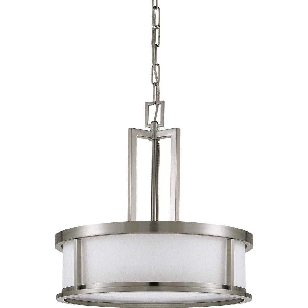 Glomar Andria Glamor 4-Light Brushed Nickel Pendant-HD