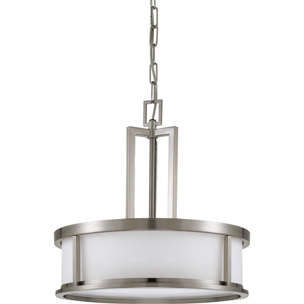 Glomar Andria Glamor 4-Light Brushed Nickel Pendant