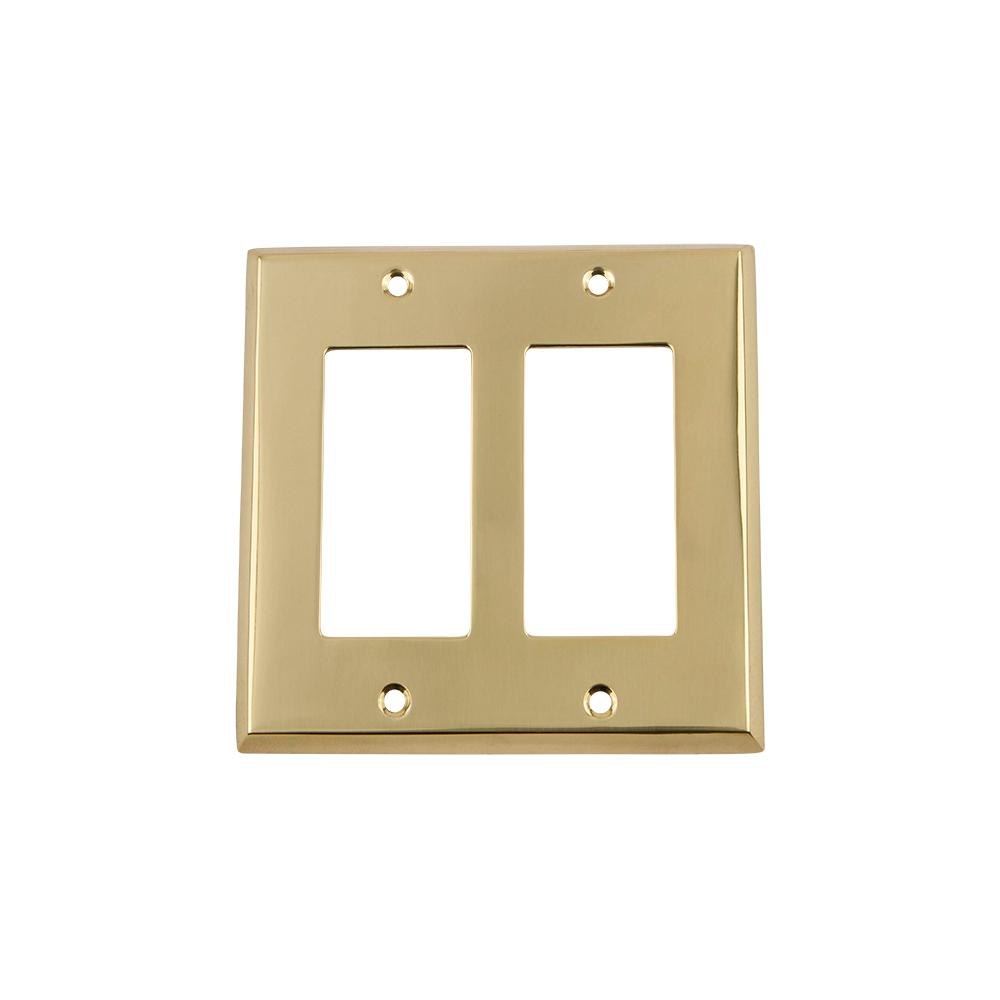 Nostalgic Warehouse Meadows Switch Plate with Double Rocker in ...