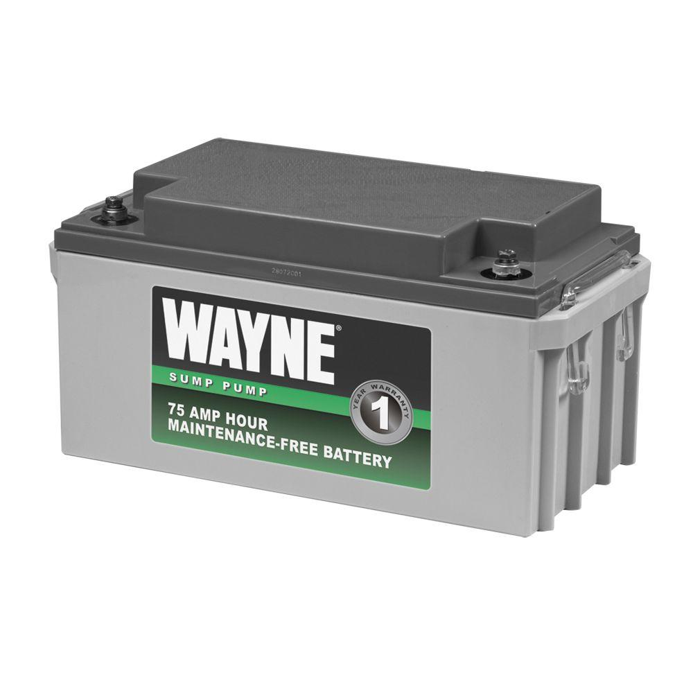 Wayne 75 Amp Hour Maintenance-Free Battery