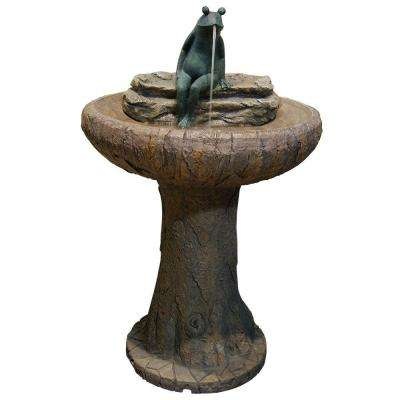 31 in. Frog Pedestal Fountain