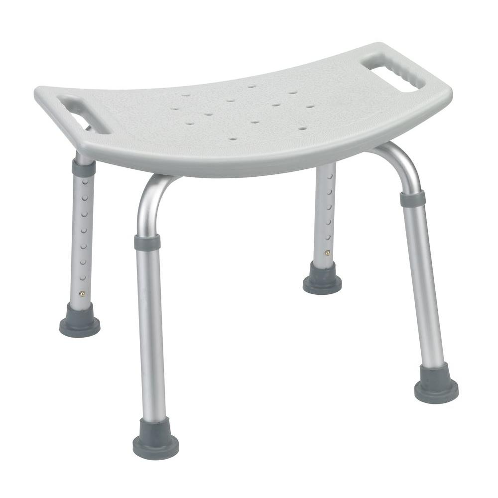 Grey Bathroom Safety Shower Tub Bench Chair  sc 1 st  The Home Depot : bath stools and benches - islam-shia.org