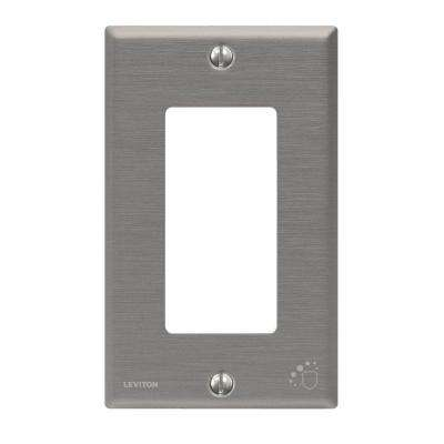 1-Gang Standard Size Antimicrobial Treated Decora Wall Plate, Powder Coated Stainless Steel