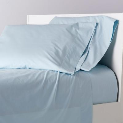 Garment-Washed Solid Organic Cotton Percale Sheet Set