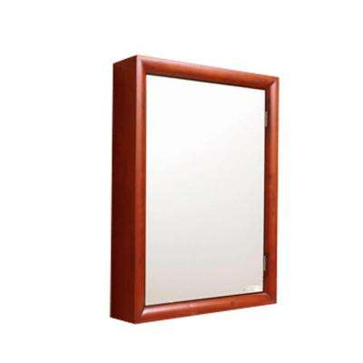 22 in. W x 30 in. H x 5 in. D Framed Surface-Mount Bathroom Medicine Cabinet in Cherry Wood
