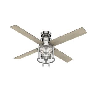 Astwood 52 in. Indoor Polished Nickel Ceiling Fan with Light Kit
