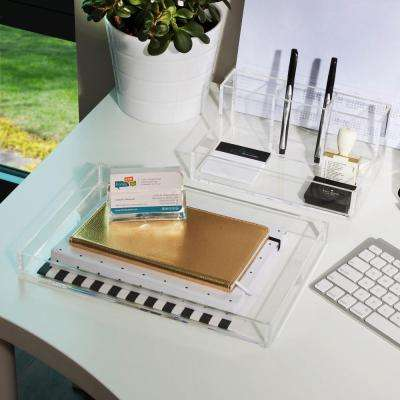 4-Piece Acrylic Kit with Topper, Quad Organizer, Cosmetic Organizer and Business Card Holder