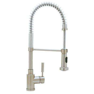Meridian Single Handle Pull Down Sprayer Kitchen Faucet In Satin Nickel Awesome Ideas