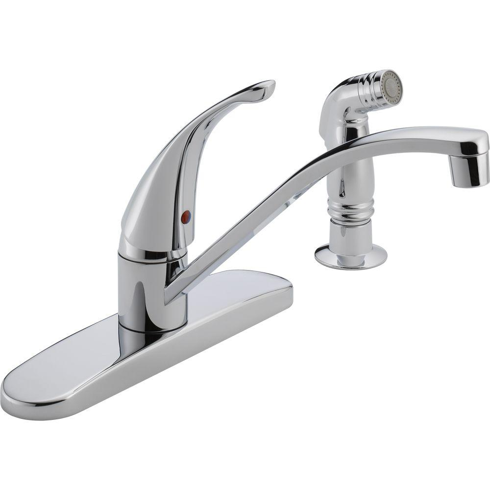 Peerless Choice Single-Handle Side Sprayer Kitchen Faucet in Chrome
