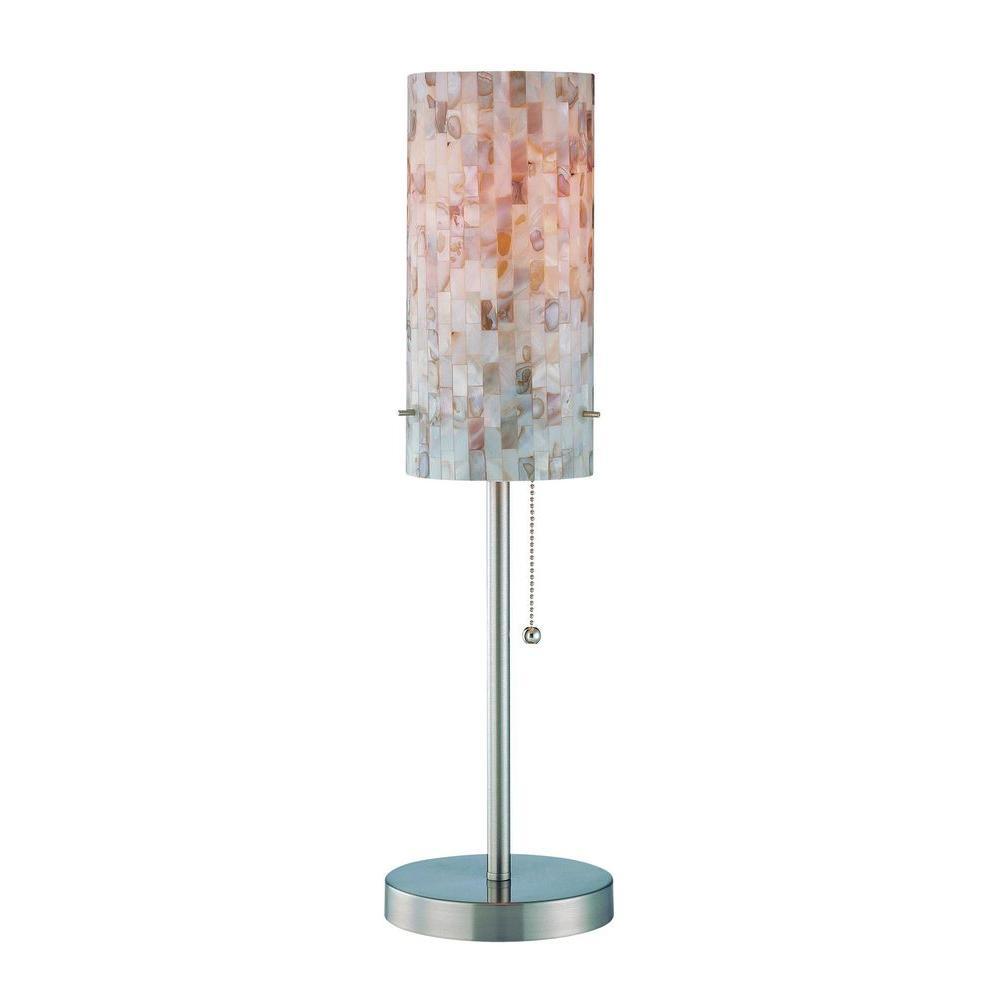 Illumine 21.5 in. Polished Steel Table Lamp