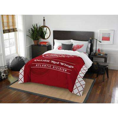 Blackhawks Draft 3-Piece Multi-Color Polyester Full/Queen Comforter Set