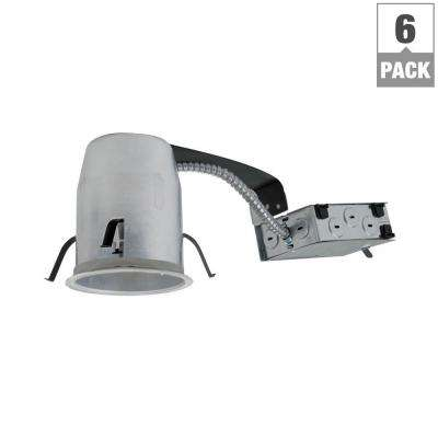 H995 4 in. Aluminum LED Recessed Lighting Housing for Remodel Ceiling, T24, Insulation Contact, Air-Tite (6-Pack)
