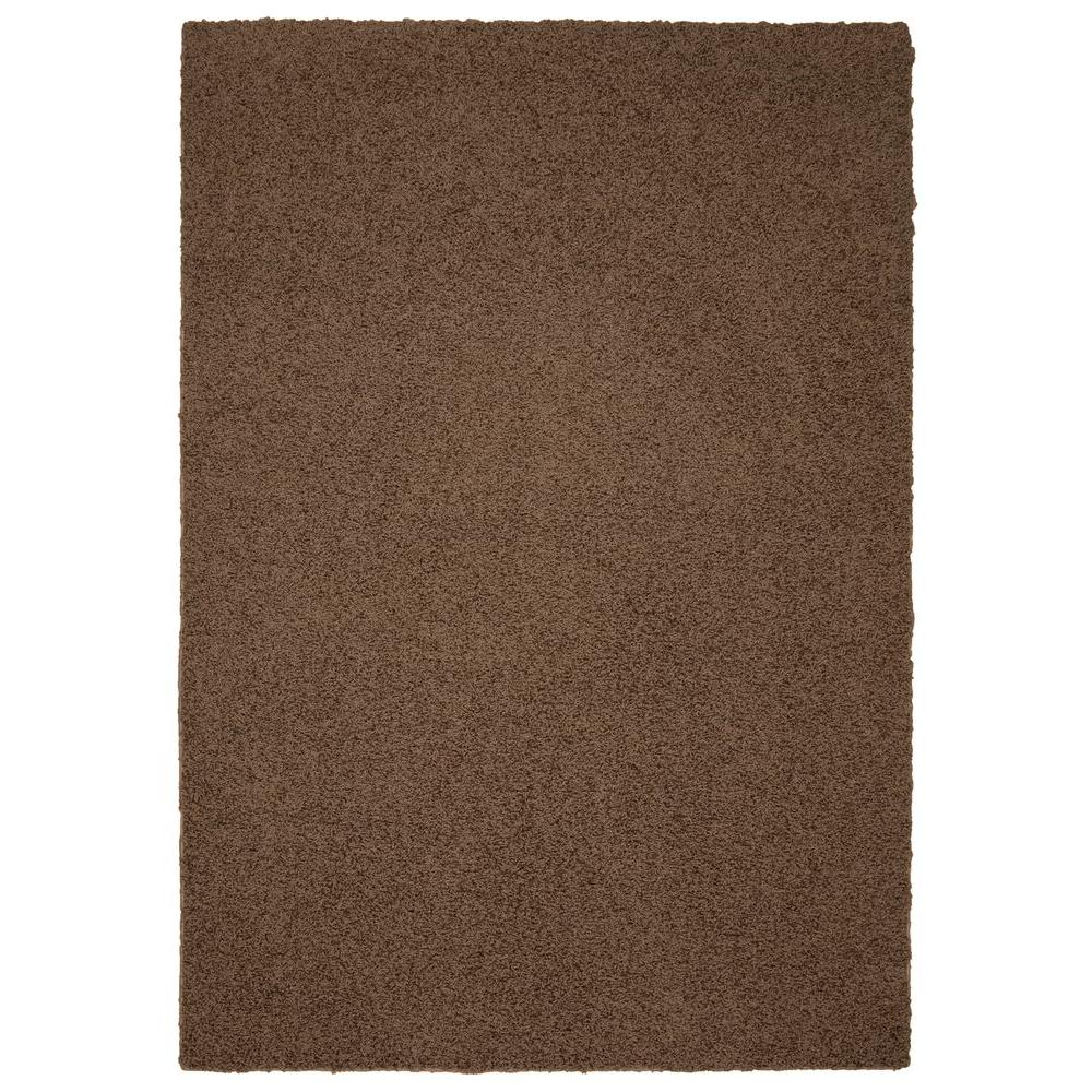 Garland Rug Southpointe Shag Chocolate 6 ft. x 9 ft. Area Rug